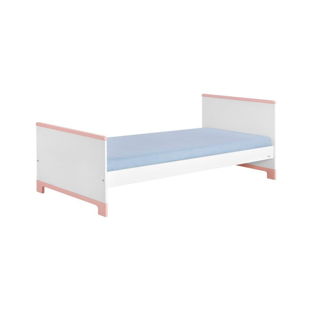 Bílo-růžová dětská postel Pinio Mini, 200 x 90 cm
