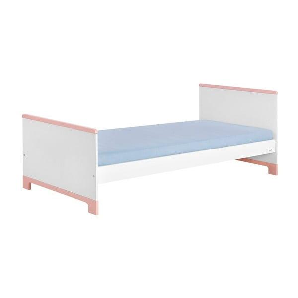 Bílo-růžová dětská postel Pinio Mini, 200x90cm