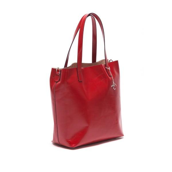 Kožená kabelka Renata Corsi 3001, červená