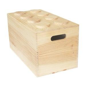 Box Wood Lego, 52x27x27 cm