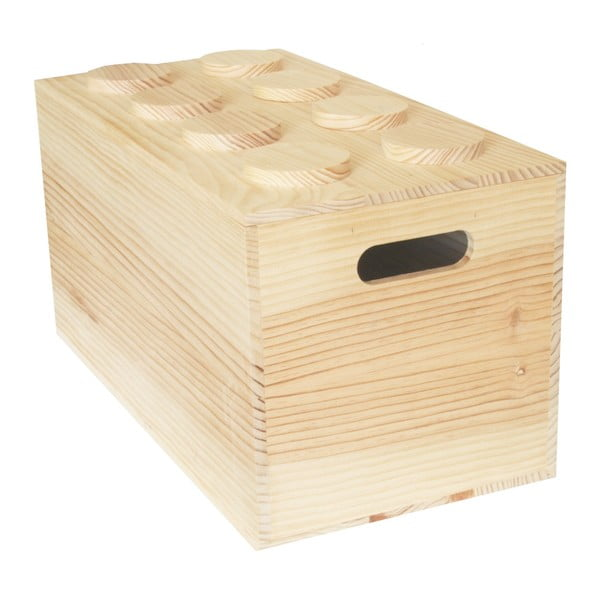 Box Wood Lego, 52x27x27 cm