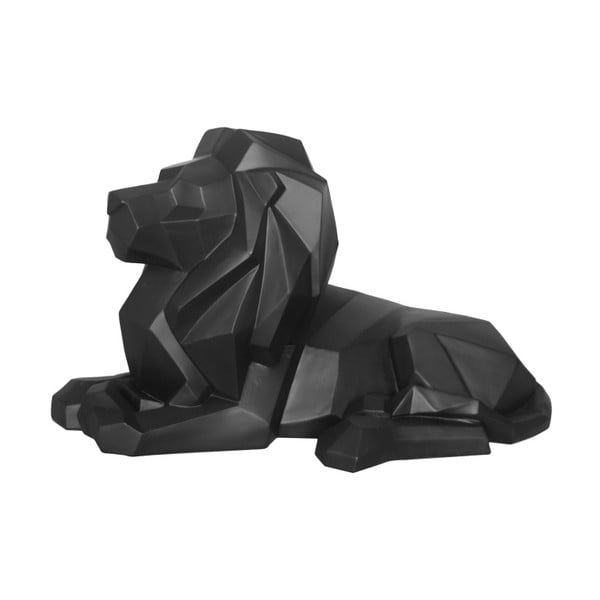 Statuetă PT LIVING Origami Lion, negru mat