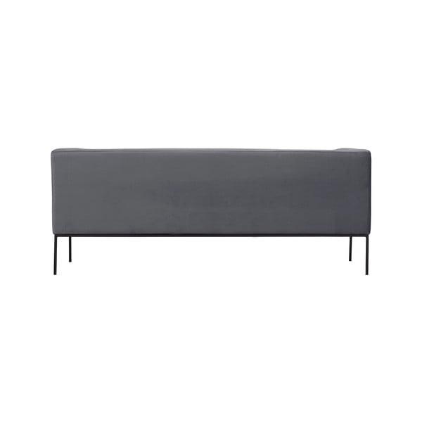 Tmavě šedá trojmístná pohovka Windsor & Co Sofas Neptune
