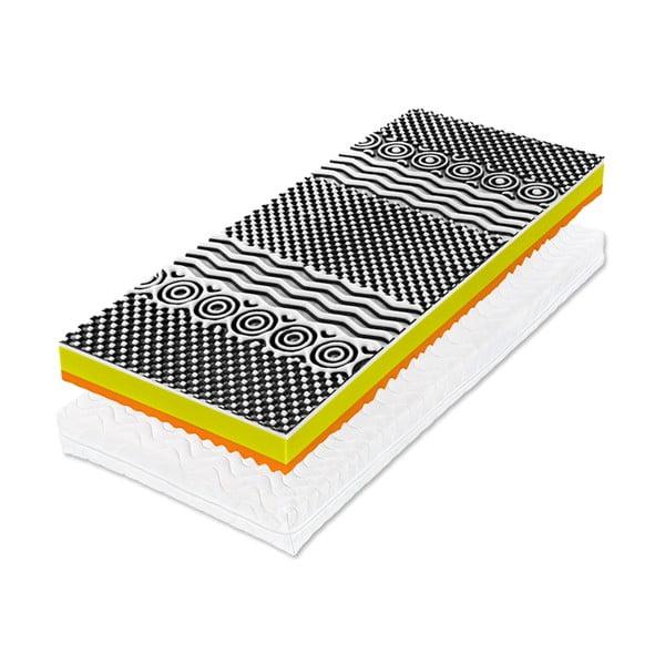 Saltea din spumă cu memorie Tropico Real Visco, 80 x 200 cm, înălțime 18 cm