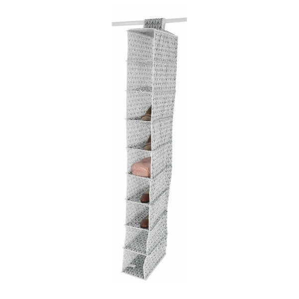 Organizator suspendat cu 9 compartimente Compactor Vetements, lățime 15 cm, gri deschis