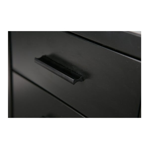 Černý zásuvkový regál De Eekhoorn Soof
