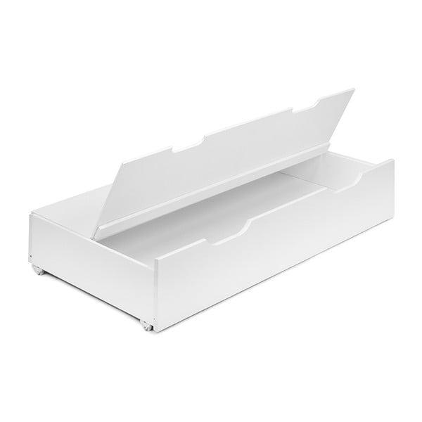 Ladă de depozitare pentru paturile YappyKids, 119 x 62 cm, alb