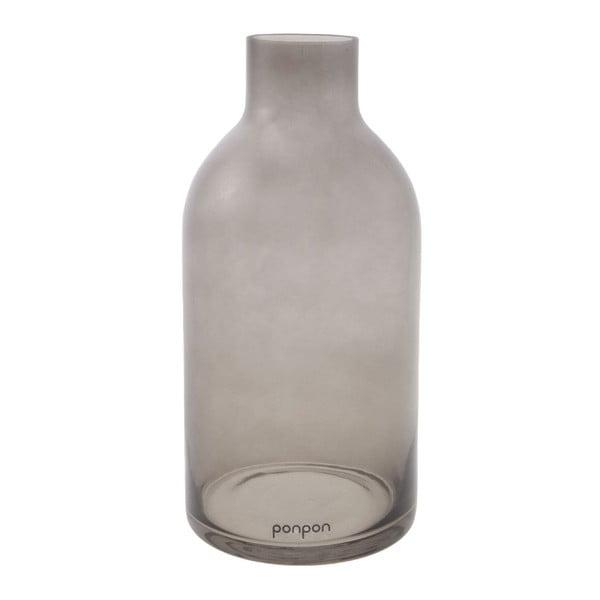 Váza/svícen Bottle 25,5 cm, šedá