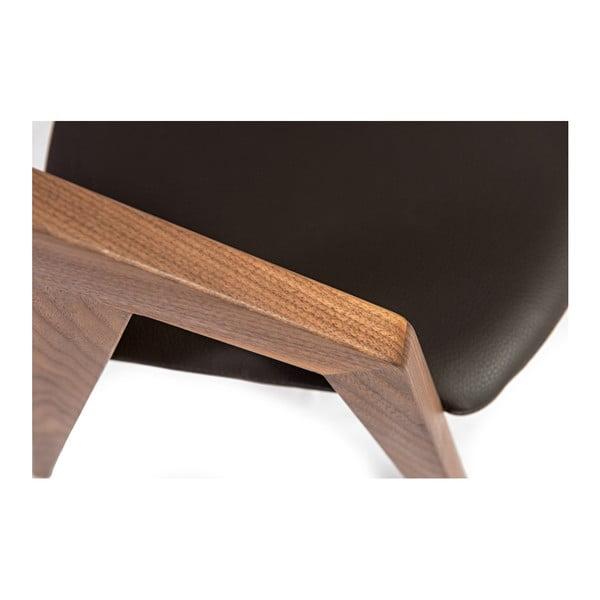 Židle z masivního ořechového dřeva Charlie Pommier Visionnaire