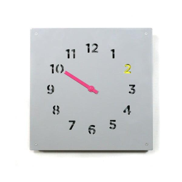 Nástěnné hodiny Wall Clock, šedé