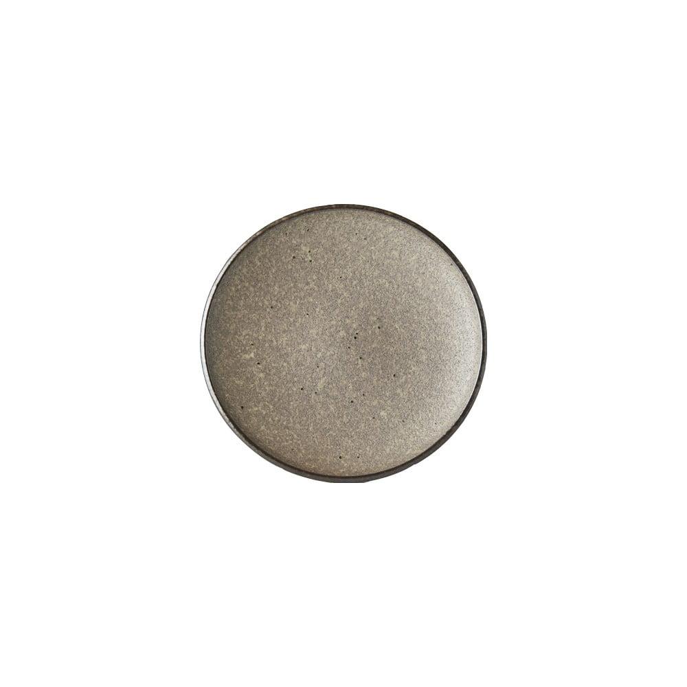 Béžový keramický talíř MIJ Earth,ø17cm