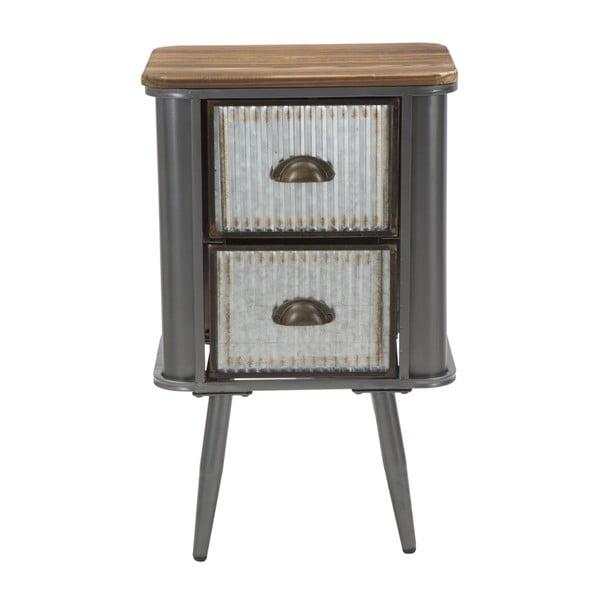 Żelazna szafka nocna z blatem z drewna jodłowego Mauro Ferretti Illinois