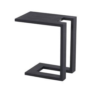 Černý zahradní boční stolek k lehátku Hartman Tim