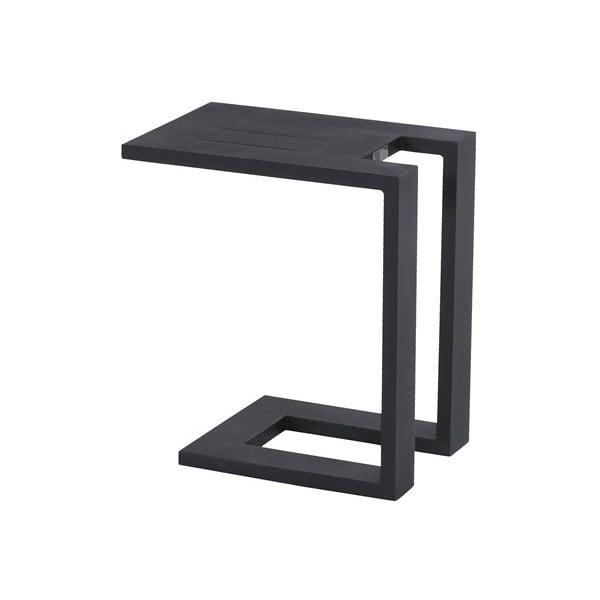 Čierny záhradný bočný stolík k ležadlu Hartman Tim
