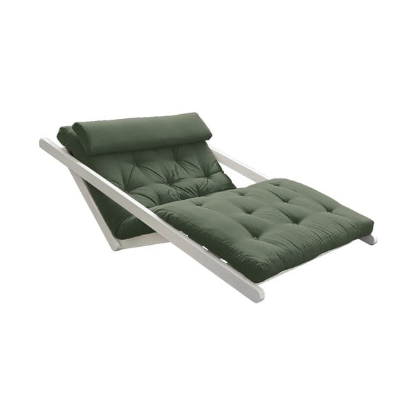 Dvoumístná variabilní lenoška Karup Design Figo White/Olive Green