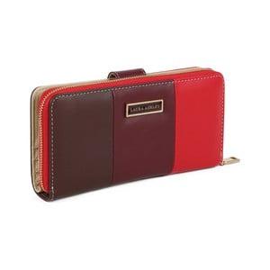 Červená peněženka z koženky Laura Ashley Oceana