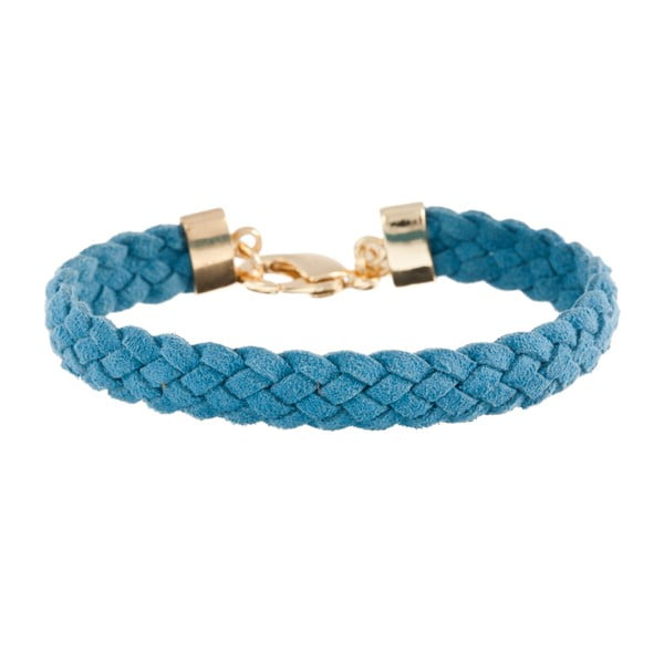 Náramek Strand braided gold, blue
