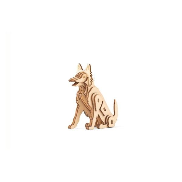 Dog kutya formájú 3D fa puzzle - Kikkerland