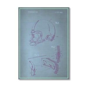 Plakát Helmet, 30x42 cm