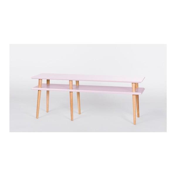 Konferenční stolek Mugo Pink, 119 cm (šířka) a 45 cm (výška)