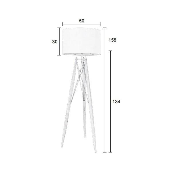 Bílá stojací lampa Eiffel
