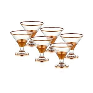 Sada 6 skleněných pohárů na servírování zmrzliny v měděném dekoru The Mia Glam