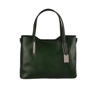 Zelená kožená kabelka Florence Bags Gofsa