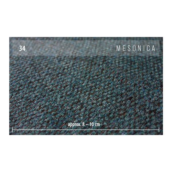 Tyrkysově modrá rozkládací pohovka s variabilní lenoškou MESONICA Munro, délka288cm