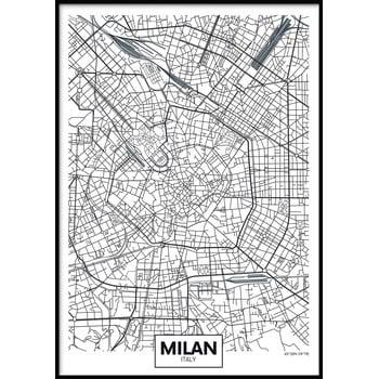 Poster cu ramă pentru perete MAP/MILAN, 50 x 70 cm imagine
