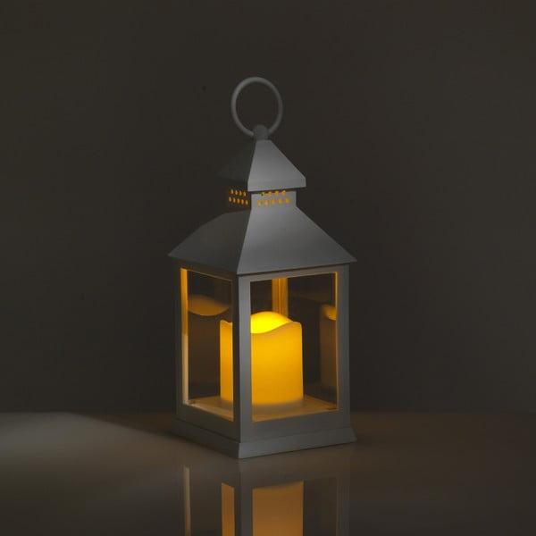 Malá bílá dekorativní LED lucerna vhodná do exteriéru Tomasucci Lante