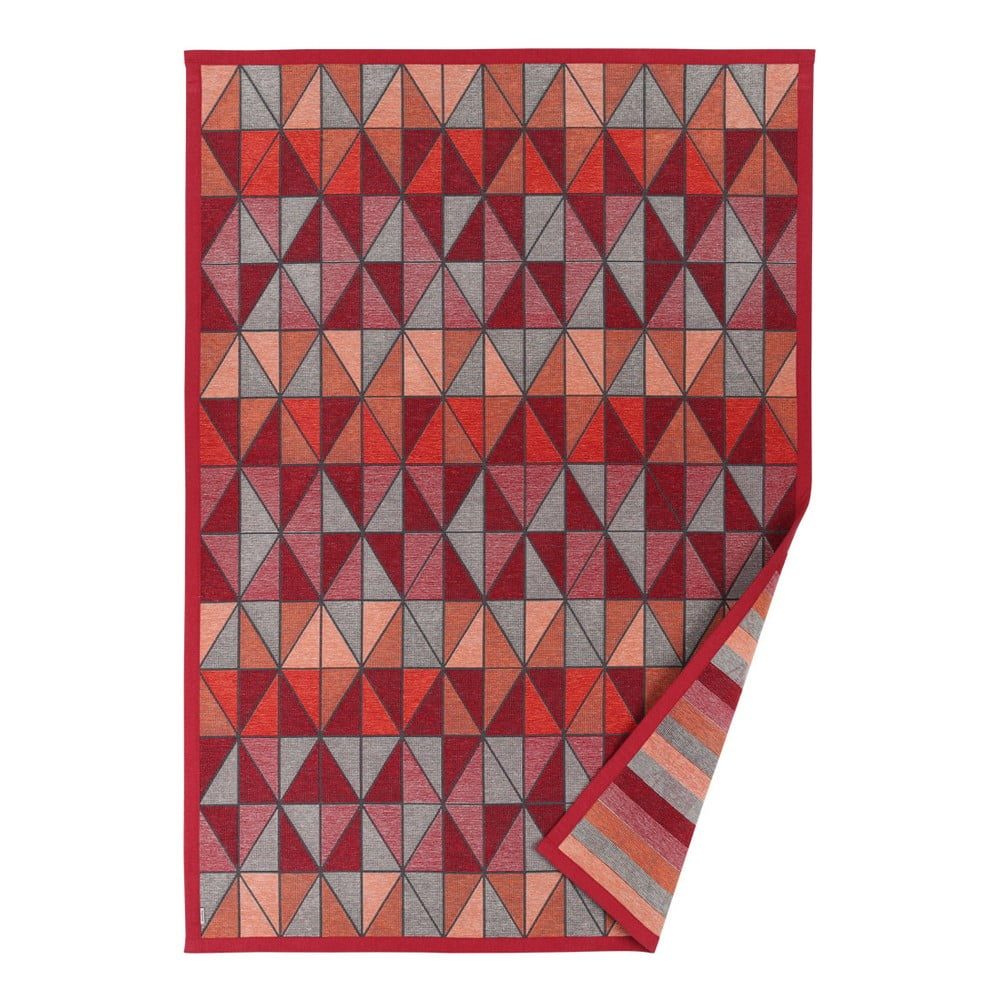 Červený vzorovaný oboustranný koberec Narma Treski, 70 x 140 cm