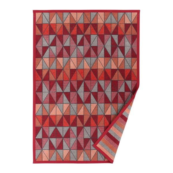 Červený vzorovaný obojstranný koberec Narma Treski, 70 × 140 cm