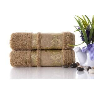 Set dvou ručníků Antik Gold Mocha, 50x90 cm