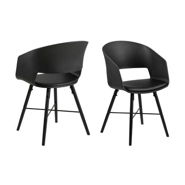 Černá jídelní židle Interstil Luna