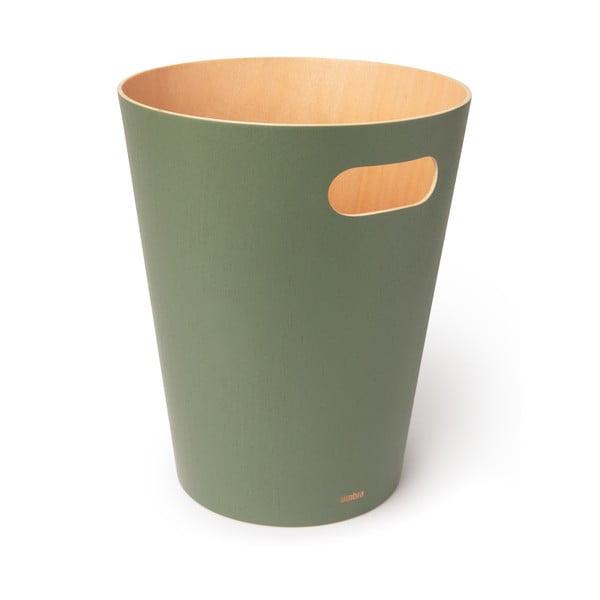 Zielony kosz na śmieci Umbra Woodrow, 7,5 l