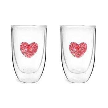 Set 2 pahare din sticlă dublă Vialli design, 350 ml de la Vialli Design