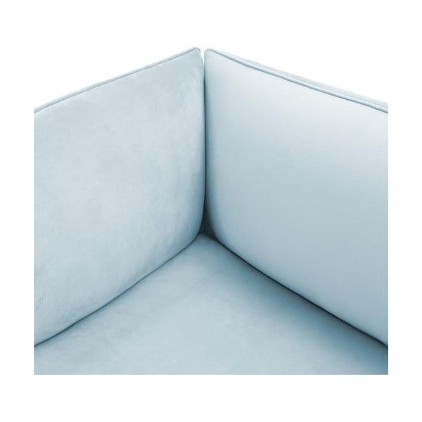 Nebesky modrý pravý rohový modul pohovky Vivonita Velvet Cube