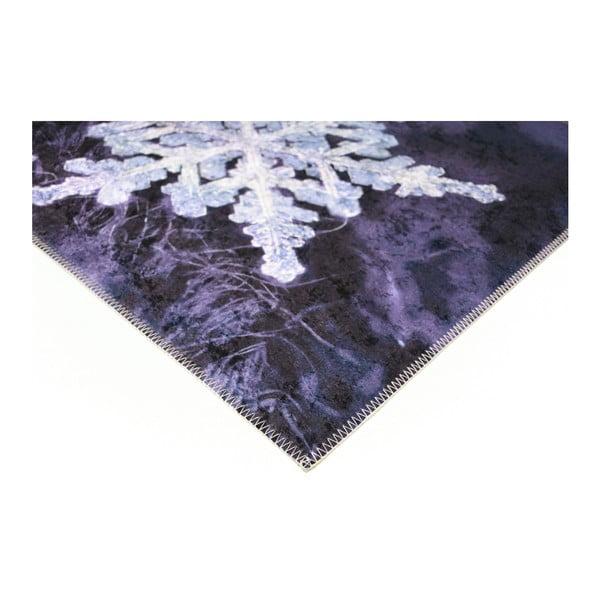 Covor Vitaus Big Snowflakes, 80 x 200 cm