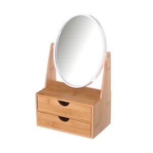 Dvojité zrcadlo se 2 zásuvkami z bambusu Unimasa
