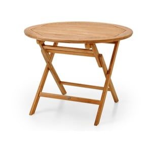 Hnědý zahradní stolek Brafab Turin, ∅100cm