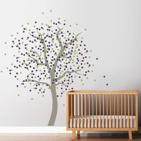 Samolepka Puntíkový strom, 70x50 cm