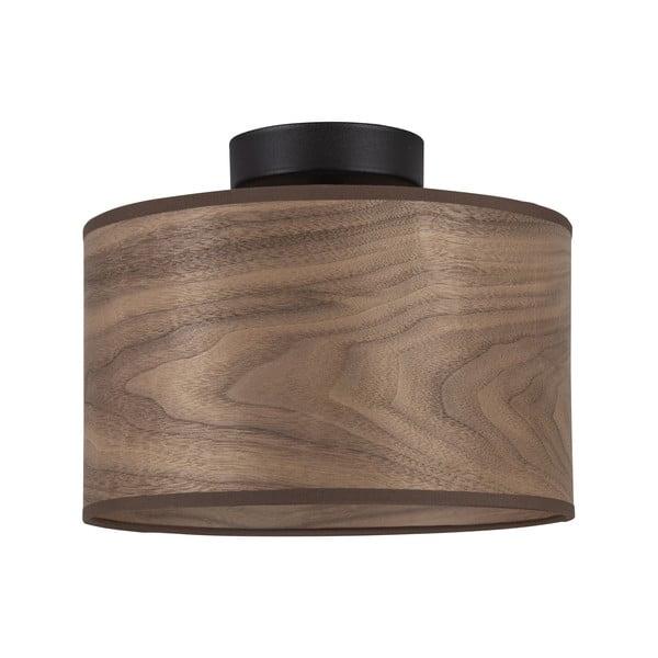 Lampa sufitowa z kloszem z drewna orzechowego Sotto Luce TSURI S