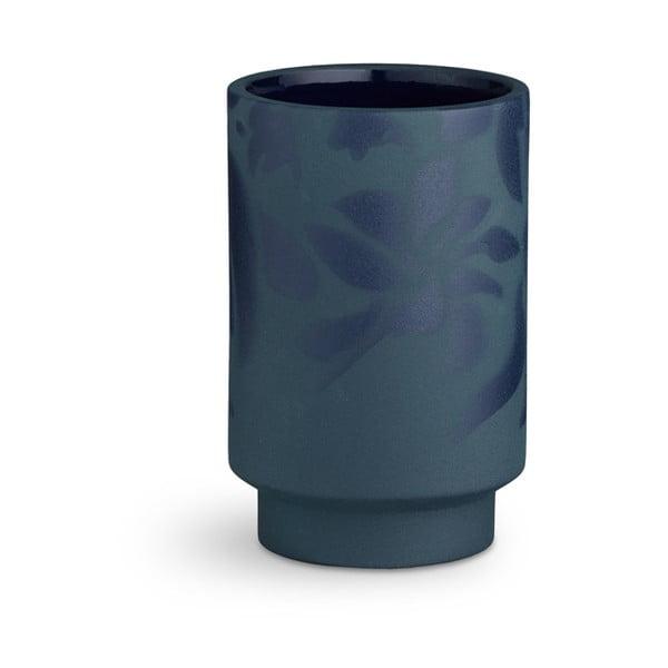 Kabell sötétkék agyagkerámia váza, magasság 12,5 cm - Kähler Design