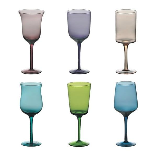 Sada 6 sklenic na víno Desigual Colore