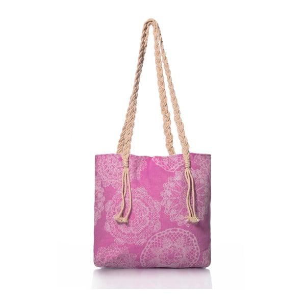 Růžová taška Begonville Lace, 50x40cm