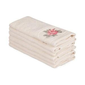 Sada 6 béžových bavlněných ručníků Nakis Paco, 30 x 50 cm