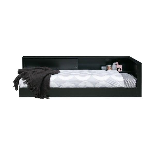 Černá jednolůžková postel z borovicového dřeva WOOOD Connect,90x200