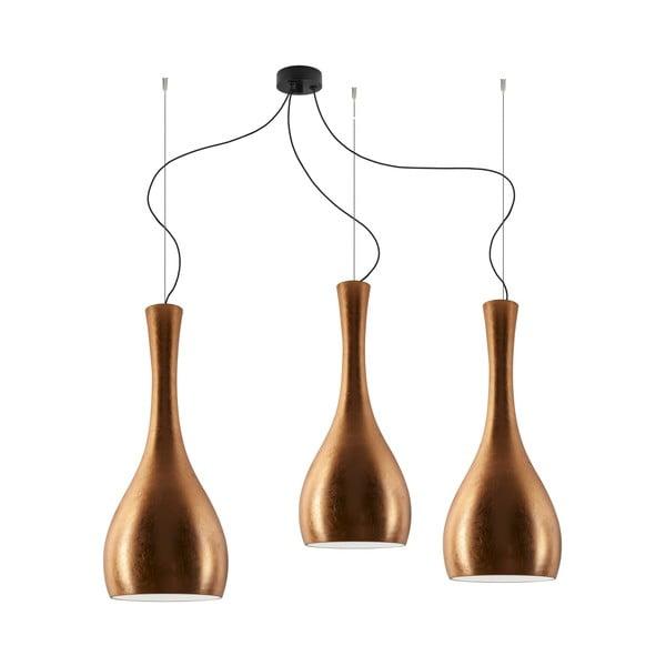 Trojité světlo ITTEKI Elementary copper/black/black
