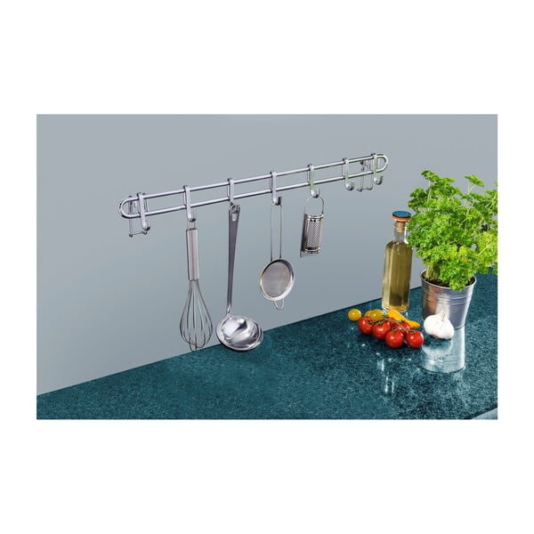 Kuchyňský nástěnný stojan se 7 háčky Wenko Hook Style