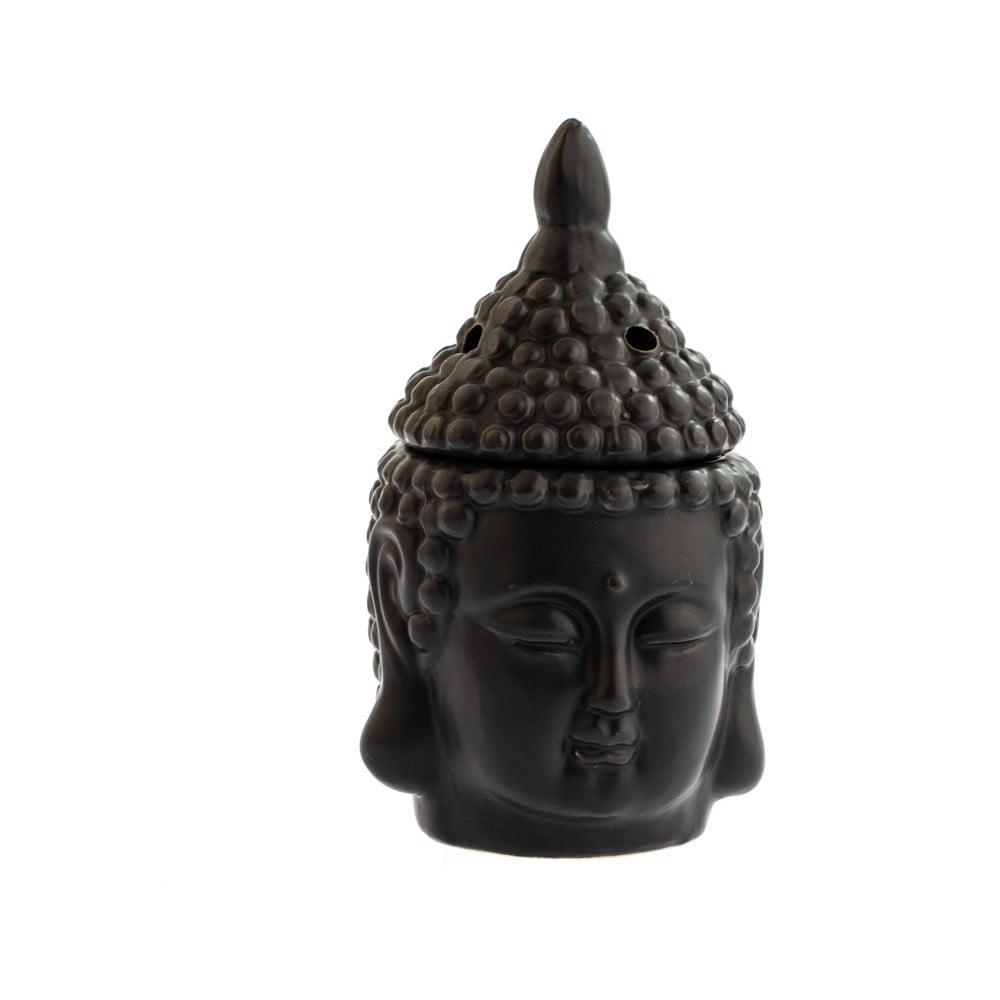 Černá keramická aromalampa Dakls Buddha